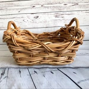 Pottery Barn Heavy rattan / wicker basket New